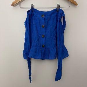 Topshop tie buttons skirt